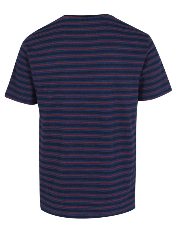 Tmavomodré pruhované tričko ONLY & SONS Indigo