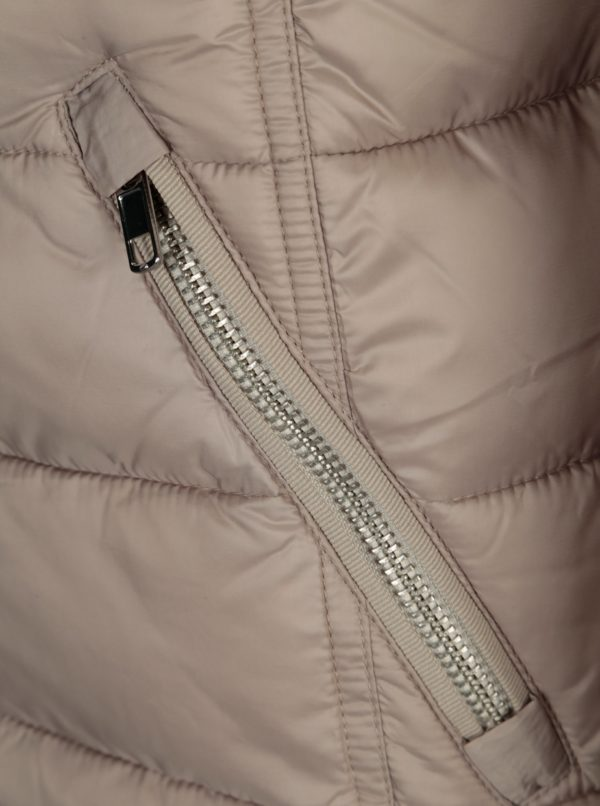 Béžová dámska prešívaná bunda s.Oliver