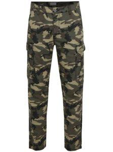 5a015a373921 Zelené maskáčové nohavice s vreckami Shine Original