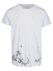 Biele tričko s nápisom na chrbte Shine Original