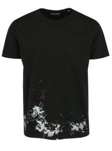 Čierne tričko s potlačou na chrbte Shine Original