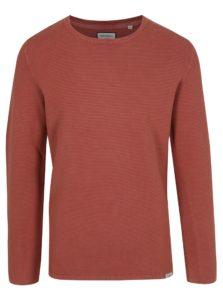 Tehlový rebrovaný sveter Shine Original