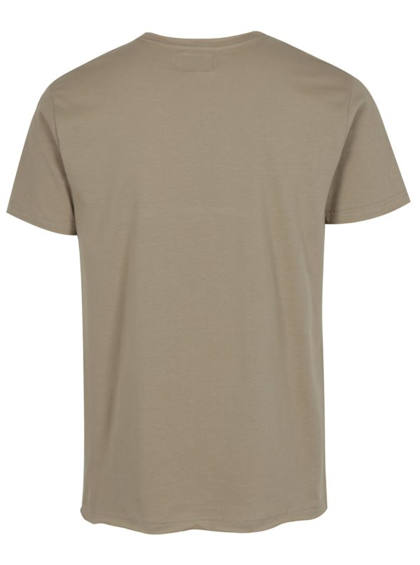 Béžové tričko s potlačou Reckless Denim Shine Original