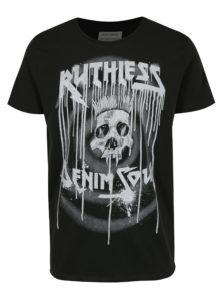 Čierne tričko s potlačou Shine Original
