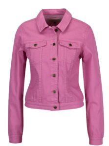 Ružová rifľová bunda ONLY Chris
