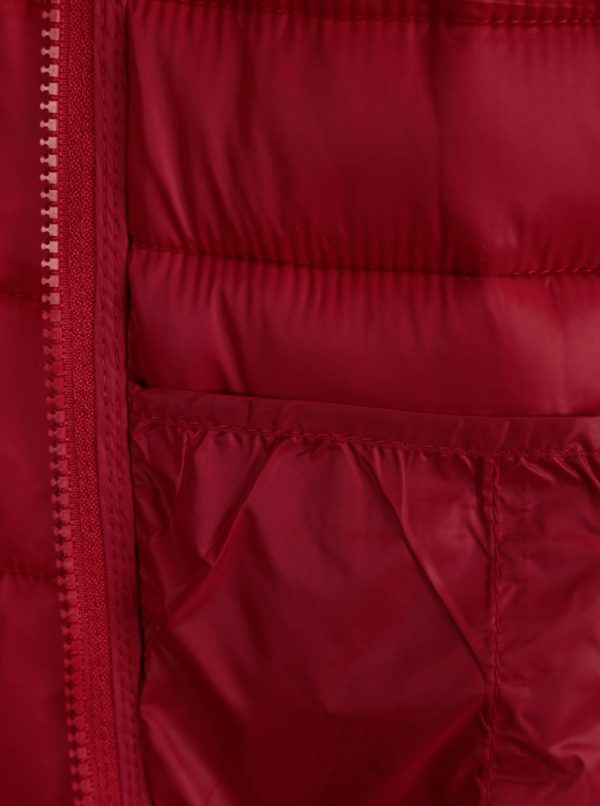 Červená prešívaná bunda ONLY Tahoe