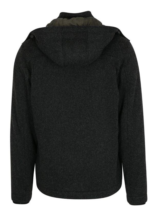 Tmavosivý pánsky kabát s prímesou vlny s.Oliver