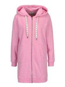 Ružová dlhá mikina s kapucňou ONLY Absolute