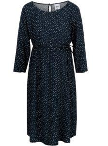 Tmavomodré vzorované šaty Mama.licious South