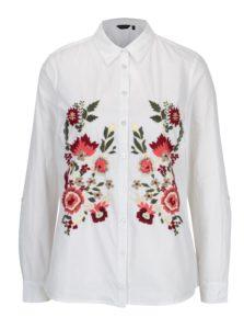 Biela košeľa s vyšívanými kvetmi Dorothy Perkins