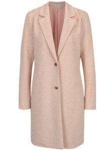 Svetloružový tenký melírovaný kabát ONLY Carrie