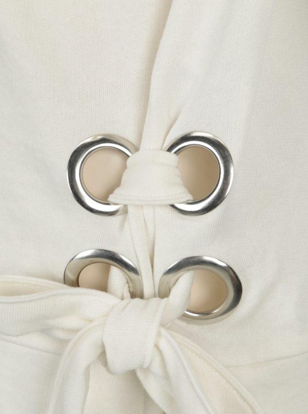Krémová voľná mikina s kovovými detailmi ONLY Eisha