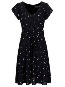 Tmavomodré vzorované šaty Billie & Blossom