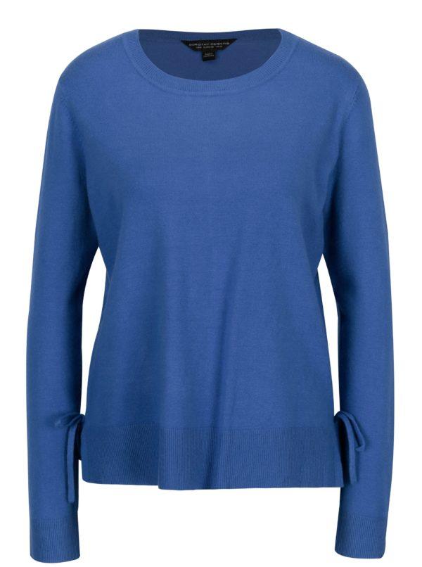 Modrý sveter s mašľou na bokoch Dorothy Perkins