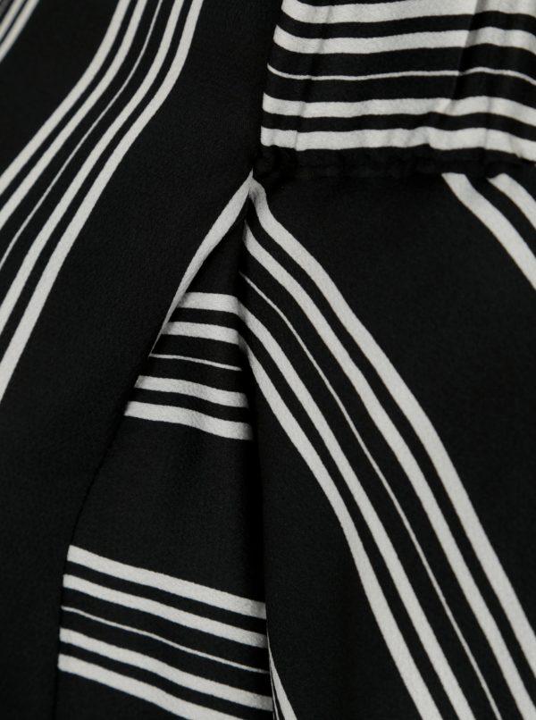 Čierna pruhovaná blúzka s odhalenými ramenami Dorothy Perkins