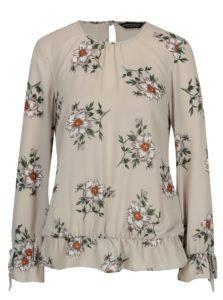 Svetlosivá kvetovaná blúzka Dorothy Perkins