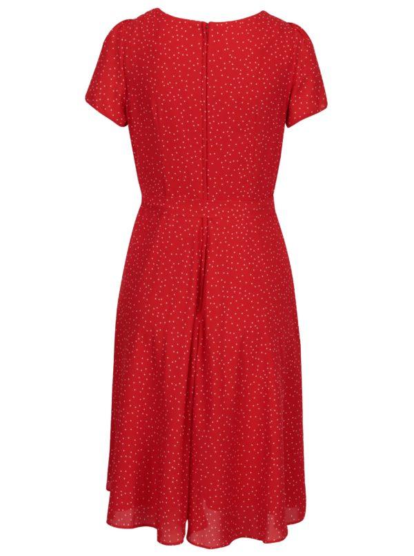Červené bodkované šaty Billie & Blossom
