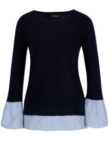 Tmavomodrý sveter s všitými zvonovými rukávmi Dorothy Perkins