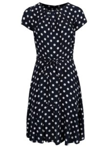 Tmavomodré bodkované šaty Billie & Blossom Curve