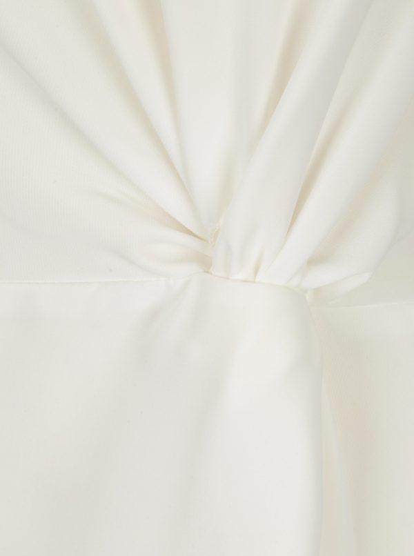 Krémová blúzka s ozdobným uzlom Dorothy Perkins