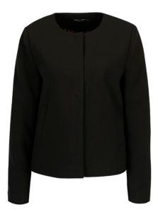 Čierne sako so vzorovanou podšívkou ONLY Cafe