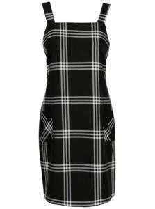 Čierne kockované šaty Dorothy Perkins