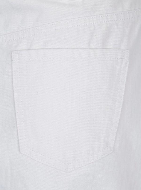Biela rifľová sukňa Dorothy Perkins