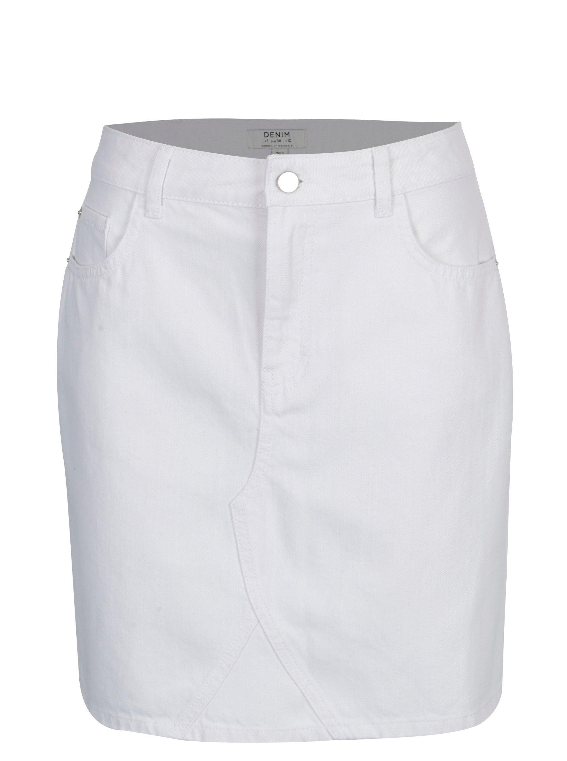 0a48f99defe9 Biela rifľová sukňa Dorothy Perkins