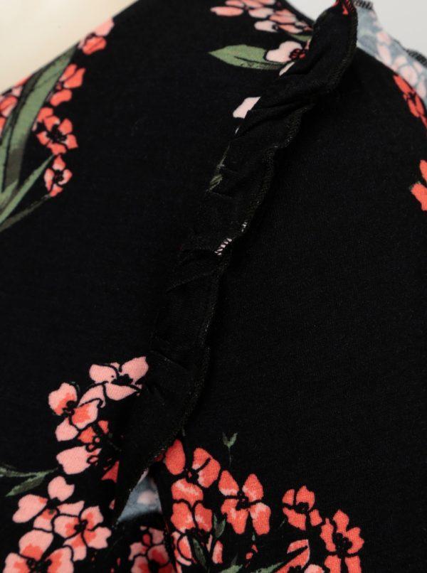 8e124bef410 Čierne kvetované šaty s volánikmi Dorothy Perkins