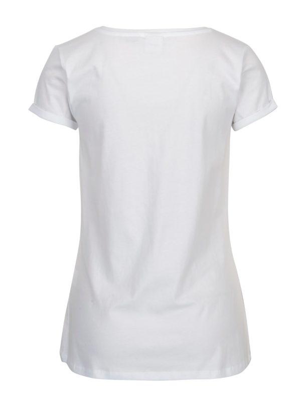 Biele tričko s potlačou Haily's Mickey