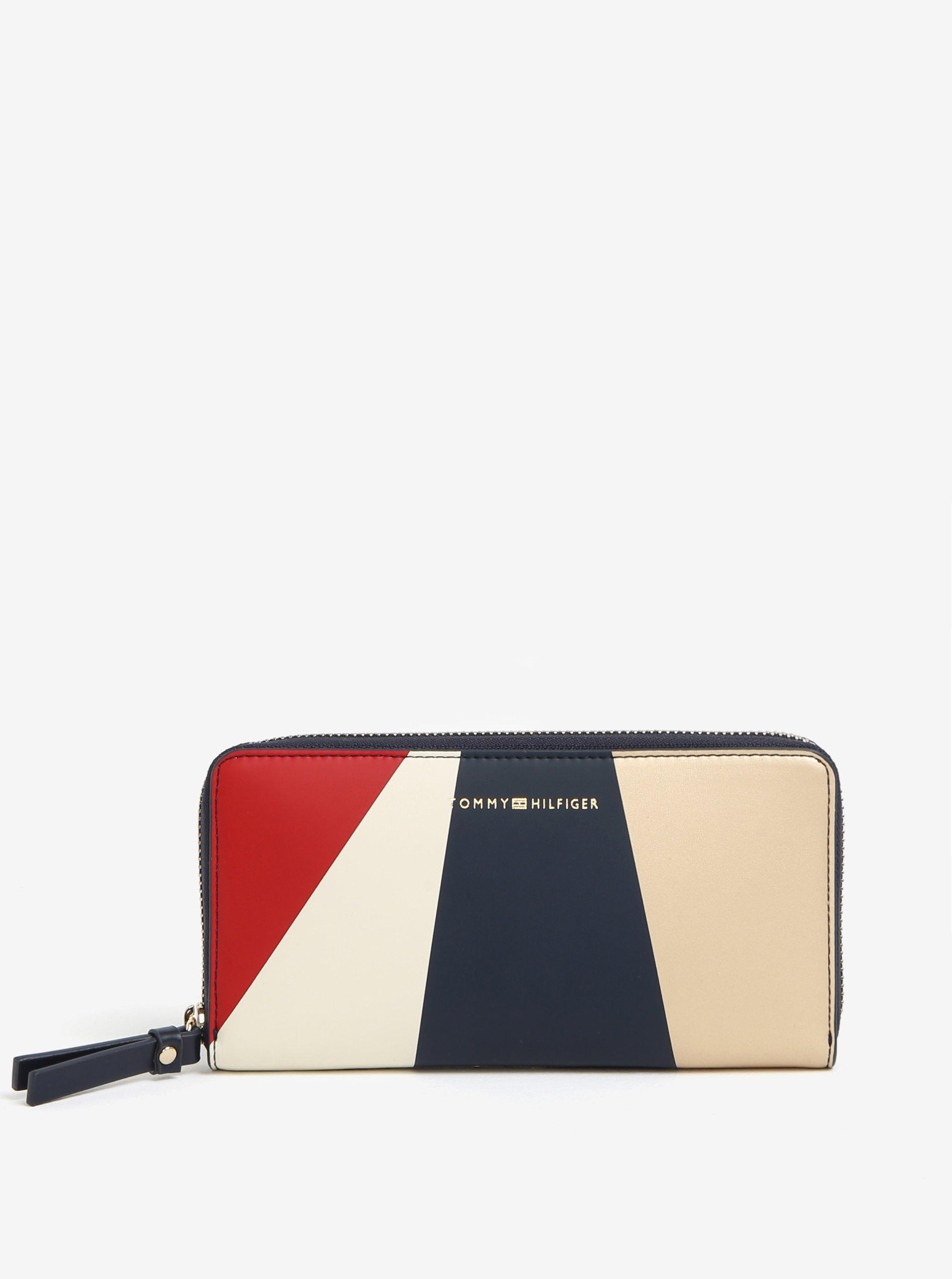 Červeno-modrá dámska peňaženka Tommy Hilfiger  2b885c5553f