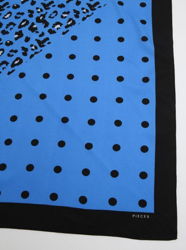 Čierno-modrá vzorovaná šatka Pieces Matiilda