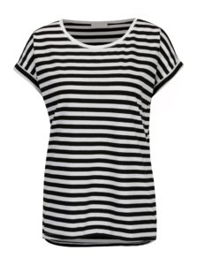 Čierno-biele pruhované tričko VILA Dreamers