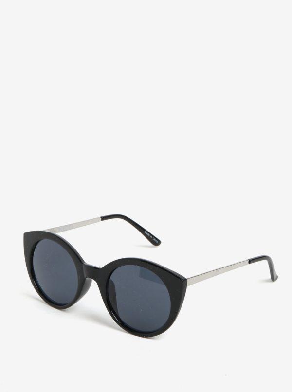 Čierne slnečné okuliare Pieces Malisa