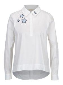 Biela košeľa s nášivkami Rich & Royal