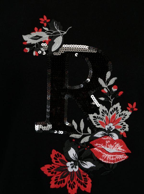 Čierna mikina s výšivkou Rich & Royal