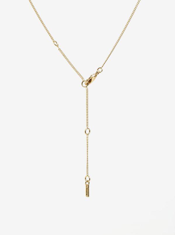 88ccfba69 Pozlátená retiazka v zlatej farbe s príveskom v tvare pierka Pilgrim Lauren