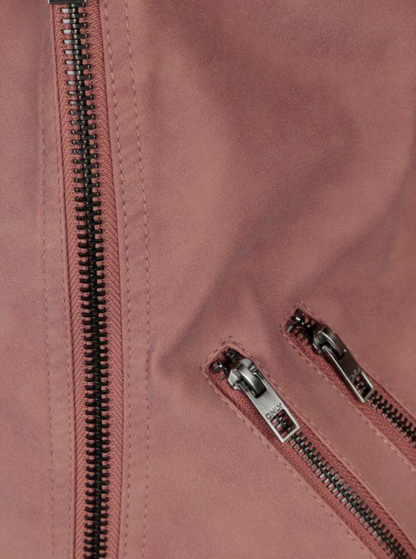 Staroružová koženková bunda ONLY Ava