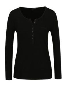 Čierne tričko s véčkovým výstrihom TALLY WEiJL
