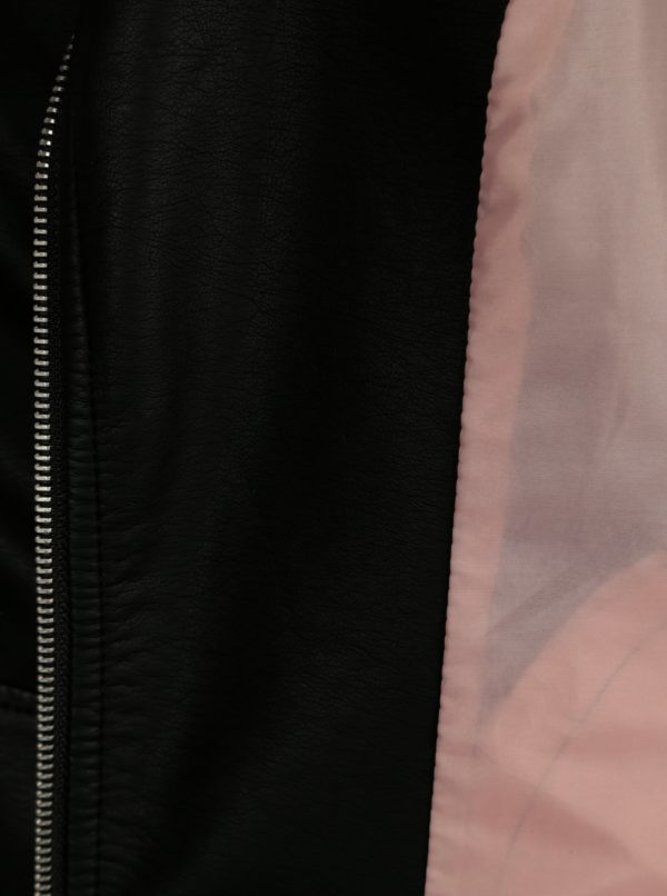 Čierna koženková bunda ONLY Gemma