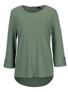 Zelené tričko s 3/4 rukávom VERO MODA Malka