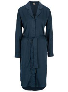 Tmavomodré košeľové šaty Selected Femme Leonora