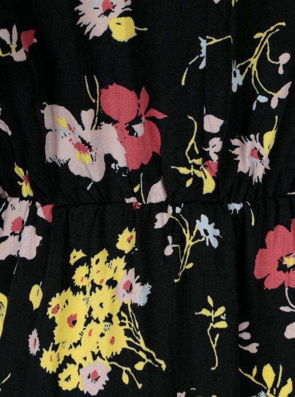 Čierne kvetované šaty Selected Femme Florisa