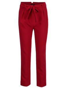 Červené nohavice s vysokým pásom TALLY WEiJL