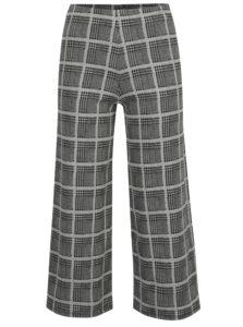 Čierno-biele kockované culottes nohavice TALLY WEiJL
