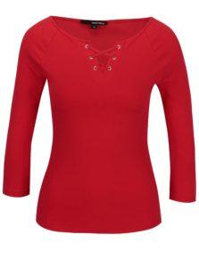 Červené tričko so šnurovaním TALLY WEiJL