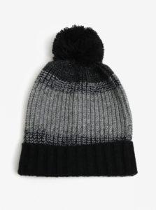 Čierno-sivá čiapka Burton Menswear London