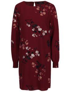 Vínové kvetované šaty VERO MODA Hallie