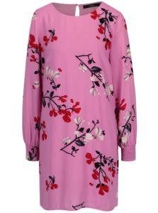 Ružové kvetované šaty VERO MODA Hallie