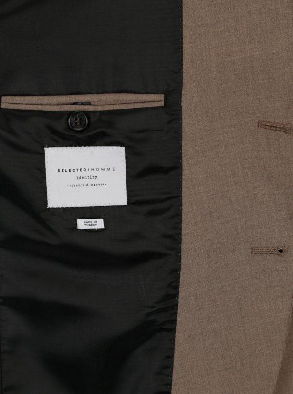 Hnedé oblekové sako Selected Homme New one